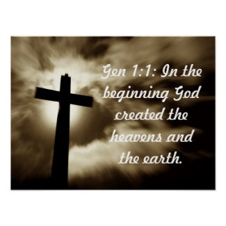Christian Poster: Genesis 1:1