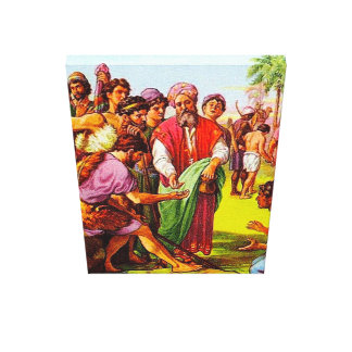 Genesis 37 Joseph's Brothers Sell Him Canvas Stretched Canvas Prints
