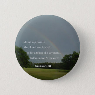 Genesis 9:13 Rainbow Button