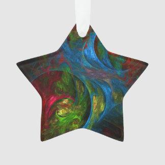 Genesis Blue Abstract Art Acrylic Star Ornament