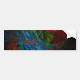 Genesis Blue Abstract Art Bumper Sticker