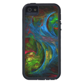 Genesis Blue Abstract Art Case For The iPhone 5