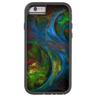 Genesis Blue Abstract Art iPhone 6 Case Tough Xtreme iPhone 6 Case