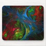 Genesis Blue Abstract Art Mousepad