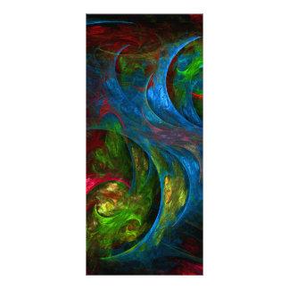 Genesis Blue Abstract Art Rack Card