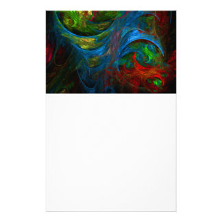 Genesis Blue Abstract Art Stationery