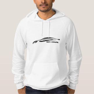 Genesis Coupe Black Silhouette Logo Hoodie