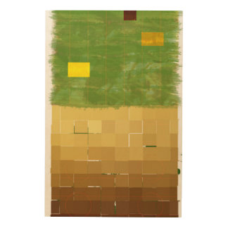 Genesis Day 3: Vegetation 2014 Wood Canvas