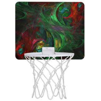 Genesis Green Abstract Art Mini Basketball Hoop