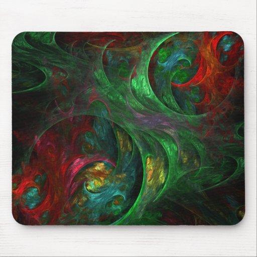 Genesis Green Abstract Art Mousepad