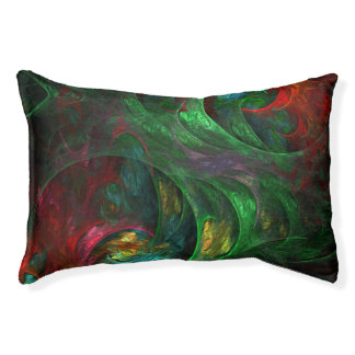 Genesis Green Abstract Art Pet Bed
