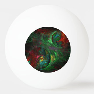 Genesis Green Abstract Art Ping Pong Ball