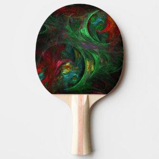 Genesis Green Abstract Art Ping Pong Paddle