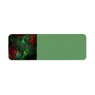 Genesis Green Abstract Art Return Address Label