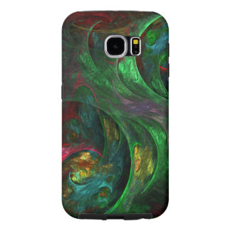 Genesis Green Abstract Art Samsung Galaxy S6 Cases