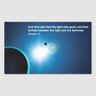 Genesis - Light And Darkness Rectangle Stickers