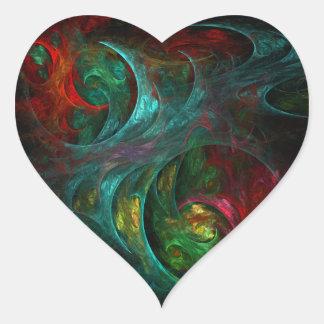 Genesis Nova Abstract Art Heart Sticker