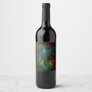 Genesis Nova Abstract Art Wine Label