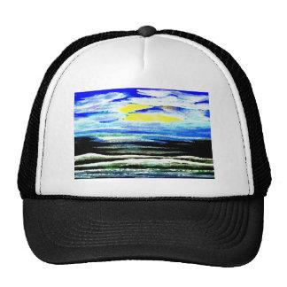 Genesis Ocean Waves Sparkly Seascape Gifts Art Trucker Hat