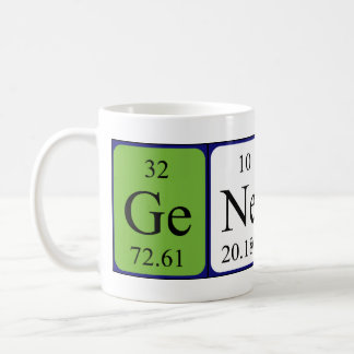 Genesis periodic table name mug