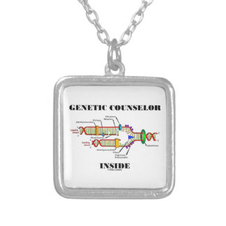 Genetic Counselor Inside (DNA Replication) Silver Plated Necklace