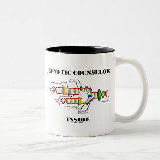 Genetic Counselor Inside (DNA Replication) Two-Tone Coffee Mug