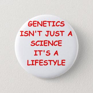 genetics 6 cm round badge
