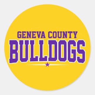 Geneva County High School; Bulldogs Round Sticker