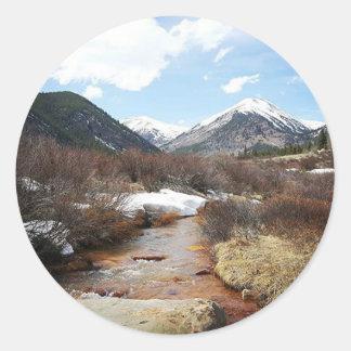 Geneva Creek In The Fall Classic Round Sticker