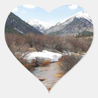 Geneva Creek In The Fall Heart Sticker