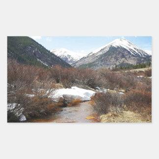 Geneva Creek In The Fall Rectangular Sticker