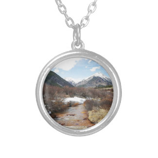 Geneva Creek In The Fall Silver Plated Necklace