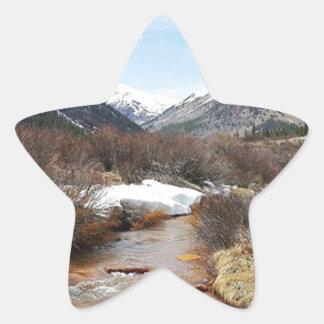 Geneva Creek In The Fall Star Sticker