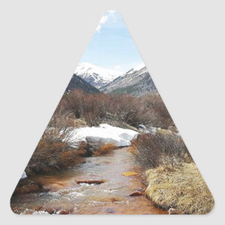 Geneva Creek In The Fall Triangle Sticker