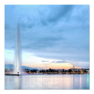 Geneva fountain, Switzerland Card