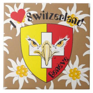 Geneva/Genève Switzerland Suisse Svizzera tile