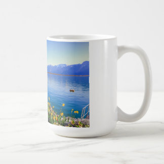 Geneva lake at Montreux, Vaud, Switzerland Coffee Mug
