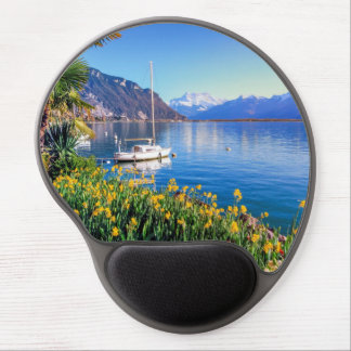 Geneva lake at Montreux, Vaud, Switzerland Gel Mouse Pad