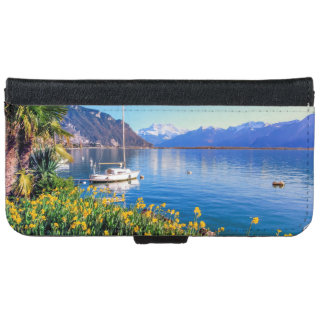 Geneva lake at Montreux, Vaud, Switzerland iPhone 6 Wallet Case