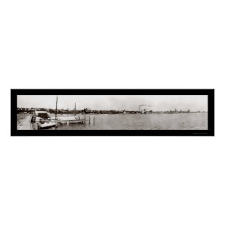 Geneva NY Waterfront Photo 1909 Poster
