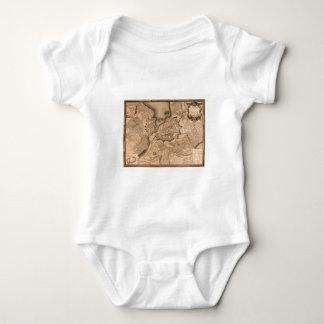 Geneva Switzerland 1773 Baby Bodysuit