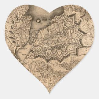 Geneva Switzerland 1773 Heart Sticker