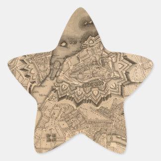 Geneva Switzerland 1773 Star Sticker