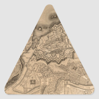 Geneva Switzerland 1773 Triangle Sticker