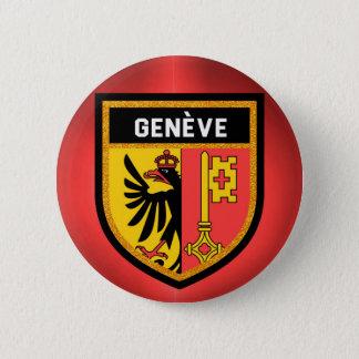Genève Flag 6 Cm Round Badge
