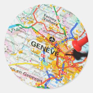 Geneve, Geneva, Switzerland Classic Round Sticker