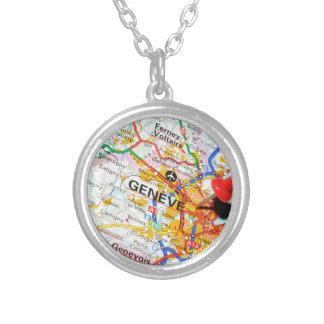 Geneve, Geneva, Switzerland Silver Plated Necklace