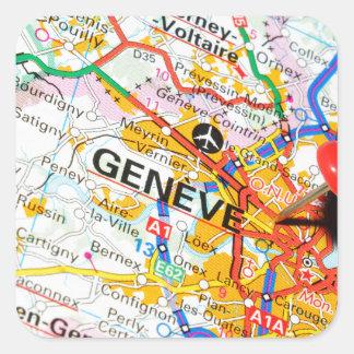 Geneve, Geneva, Switzerland Square Sticker