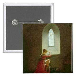 Genevieve of Brabant Baptising her Son in Prison 15 Cm Square Badge