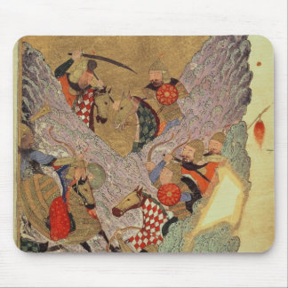Genghis Khan (c.1162-1227) fighting the Chinese in Mouse Pad